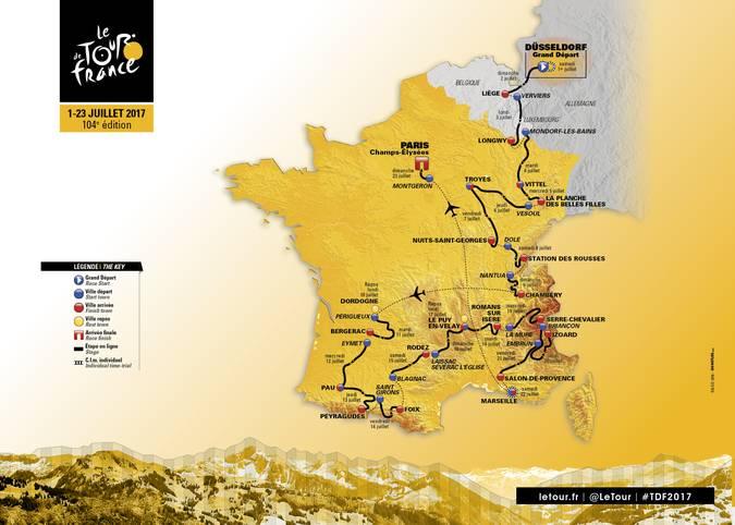 Die 104. Auflage der Großen Schleife verläuft über 3540 Kilometer und passiert vier Länder, der Sieger wird am 23. Juli traditionell in Paris gekürt. SPORT1 zeigt die Streckenprofile der restlichen Etappen - und erklärt, wo sich die Tour de France 2017 entscheidet