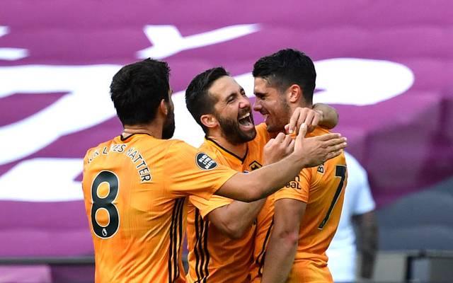 Rúben Neves, Joao Moutinho und Pedro Neto (v.l.) zählen zu den Protagonisten des Wolves-Aufschwungs