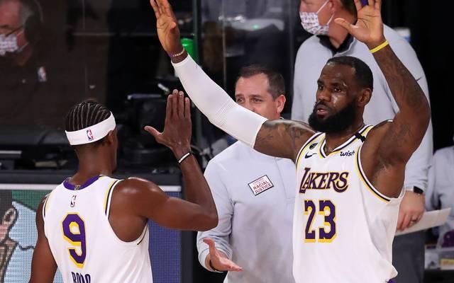 LeBron James und Rajon Rondo führten die Lakers zum Sieg