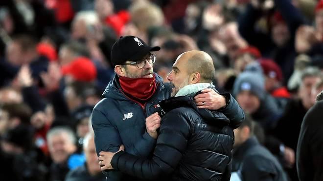 Jürgen Klopp (l.) und Pep Guardiola kennen sich bereits aus gemeinsamen Zeiten in der Bundesliga