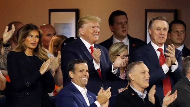 US-Präsident Donald Trump beim fünften Spiel der World Series