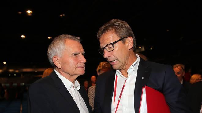 Guido Buchwald (rechts) mit Ex-Präsident Wolfgang Dietrich
