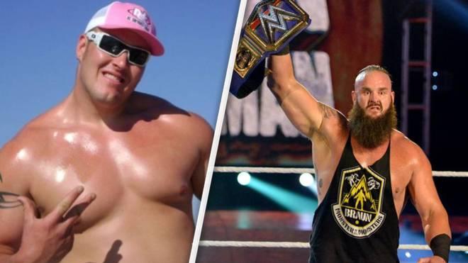 Braun Strowman vor seiner WWE-Karriere 2009 und 2020 als Universal Champion