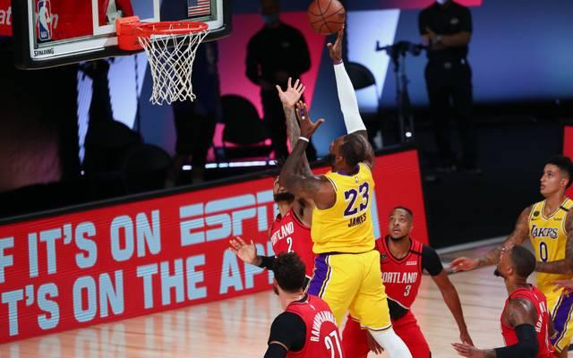 LeBron James erzielte nur zehn Punkte