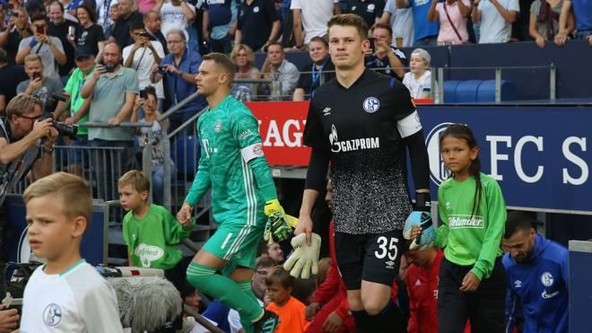 Bald Rivalen um den Platz im Tor des FC Bayern: Alexander Nübel (r.) und Manuel Neuer