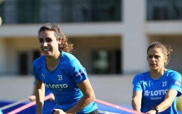 Bibiane Schulze-Solano im Training des FFC Frankfurt