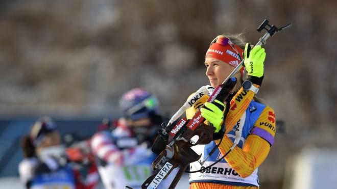 Denise Herrmann kann zum Abschluss kein Erfolgserlebnis mehr feiern