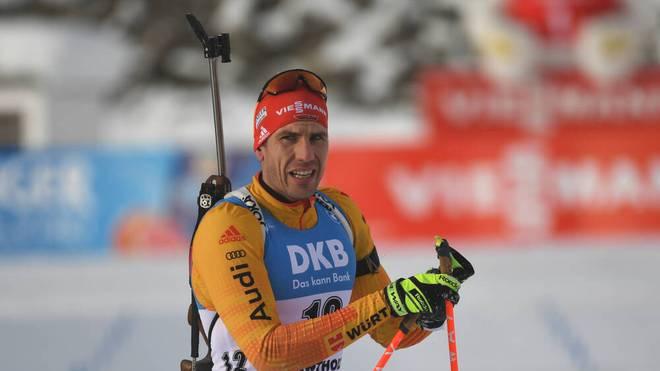 Arnd Peiffer ist aktuell bester Deutscher im Biathlon-Gesamtweltcup