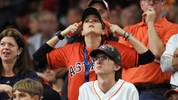 HOUSTON, TEXAS - OCTOBER 29: Fans react during the eighth inning in Game Six of the 2019 World Series between the Houston Astros and the Washington Nationals at Minute Maid Park on October 29, 2019 in Houston, Texas. (Photo by Mike Ehrmann/Getty Images)