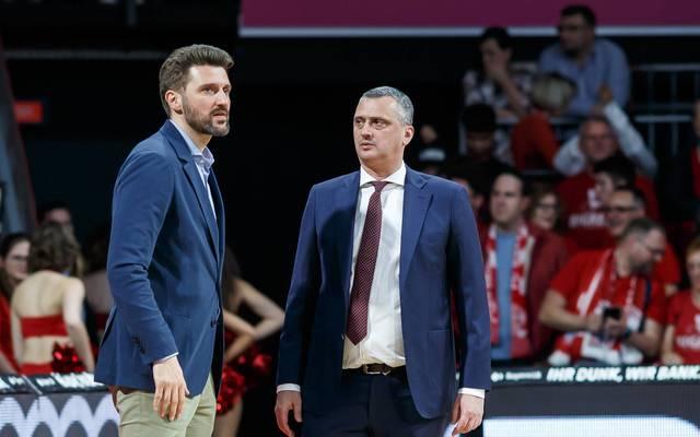Marko Pesic (l.) und der FC Bayern haben sich von Dejan Radonjic (r.) getrennt