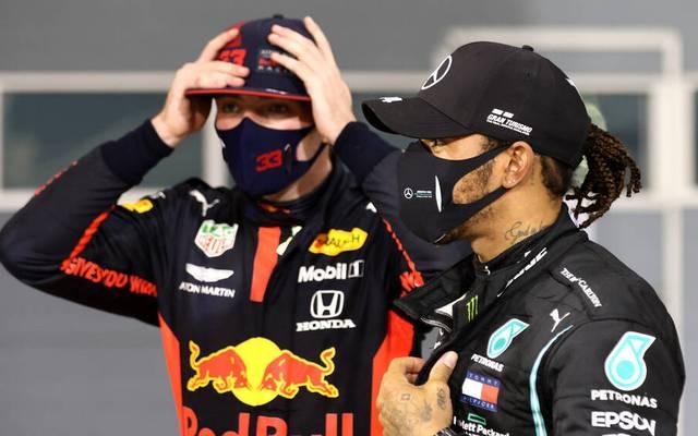 Max Verstappen (l.) war in Bahrain mit Red Bull unzufrieden