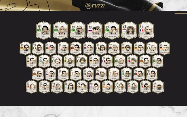 Insgesamt 51 Prime Icons sind seit Freitag in FIFAs Ultimate Team Modus spielbar