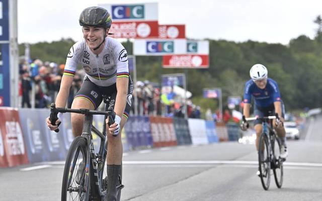 Annemiek van Vleuten holt sich den EM Titel im Straßenradsport