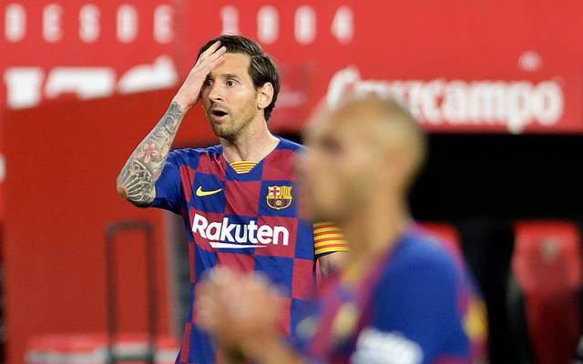 Lionel Messi und der FC Barcelona tun sich auch nach der Corona-Pause schwer