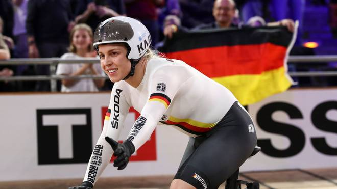 Emma Hinze sicherte sich bei der Bahnrad-WM im Februar zwei Mal Gold
