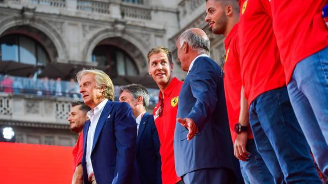 Luca di Montezemolo (vorne links) war von 1991 bis 2014 Ferraris Präsident