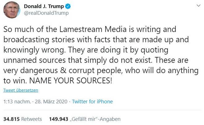 Trump wettert in der Coronakrise gegen die Medien