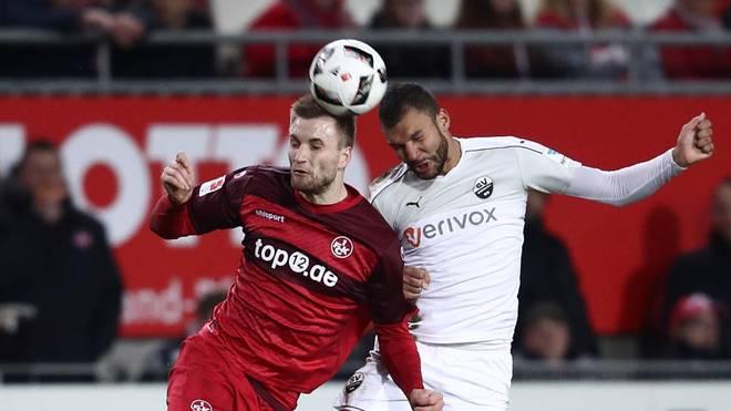 Kacper Przybylko (l.) spielte in der 2. Bundesliga unter anderem für den 1. FC Kaiserslautern
