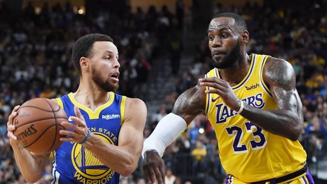 Auch Stephen Curry und LeBron James sind für eine Fortsetzung der Saison