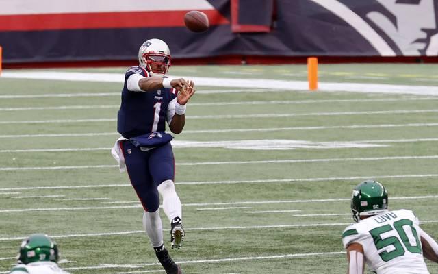Cam Newton konnte in Sachen Passspiel bei den Patriots nicht überzeugen