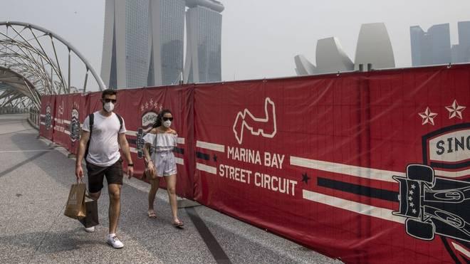 Schutzmasken sollen die Formel-1-Fans schützen