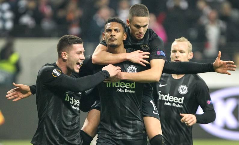 Eintracht Frankfurts Büffelherde fegt durch Europa. Im Achtelfinale der Europa League treffen Sebastien Haller, Ante Rebic, Luka Jovic und Co. nun auf Inter Mailand