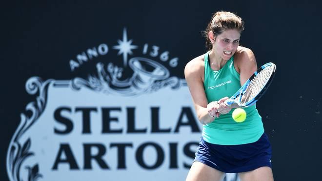 Julia Görges setzt sich in ihrem Erstrunden-Match souverän durch