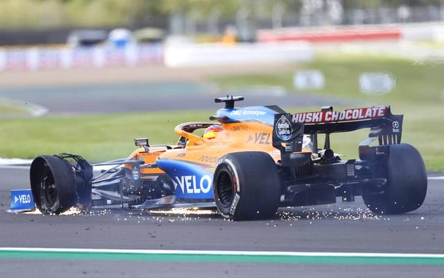 Carlos Sainz hatte beim England-GP große Reifenprobleme