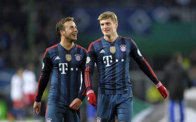 Mario Götze und Toni Kroos spielten in der Saison 2013/14 gemeinsam für den FC Bayern München