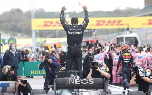Formel 1 Rekorde: Lewis Hamilton feiert seinen 7. WM Titel.