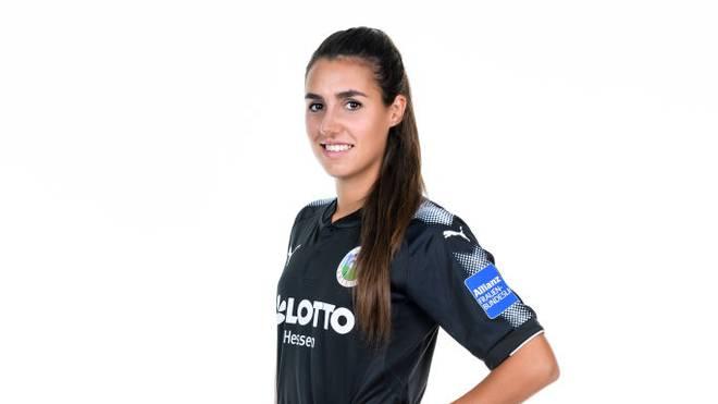 Bibiane Schulze Solano, hier im Trikot des 1. FFC Frankfurt, spielt mittlerweile bei Athletic Bilbao