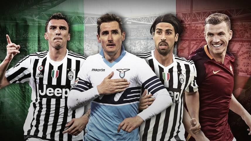Die italienische Liga hat aufgerüstet. Mit dabei sind Bekannte aus der Bundesliga. Der Verbleib eines heiß begehrten Profis ist noch fraglich. SPORT1 zeigt die Stars