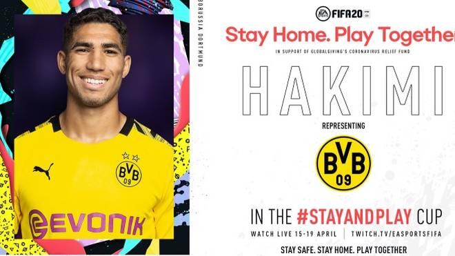 Auch Achraf Hakimi von Borussia Dortmund wird am Stay and Play Cup teilnehmen.