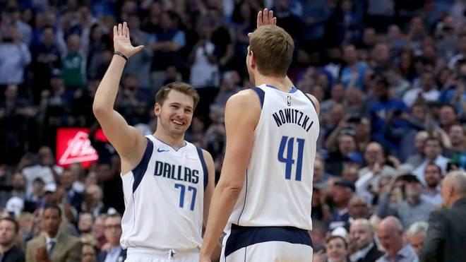 Dirk Nowitzki und Luka Doncic waren in der vergangenen Saison noch Mavs-Teamkollegen