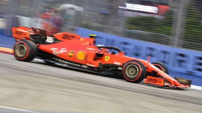 Charles Leclerc legt im letzten freien Training vor dem Rennen in Singapur die beste Zeit hin