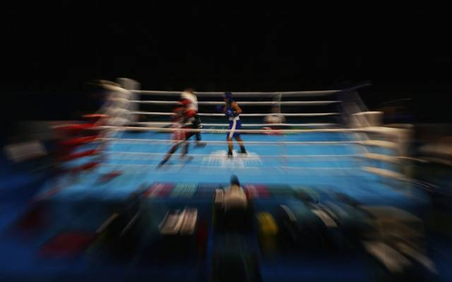 GOLD COAST, AUSTRALIA - APRIL 06:  General view  during the Boxing  on day two of the Gold Coast 2018 Commonwealth Games at Oxenford Studios on April 6, 2018 on the Gold Coast, Australia.  (Photo by Jason O'Brien/Getty Images)