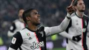 TURIN, ITALY - JANUARY 15: Douglas Costa of Juventus FC celebrate a goal during the Coppa Italia match between Juventus and Udinese Calcio at Allianz Stadium on January 15, 2020 in Turin, Italy. (Photo by Stefano Guidi/Getty Images)