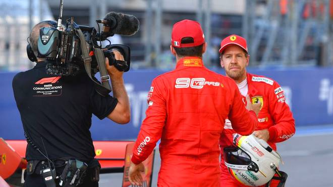 Charles Leclerc (l.) und Sebastian Vettel wollen die Ferrari-Siegesserie fortsetzen
