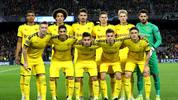 BARCELONA, SPAIN - NOVEMBER 27: Players of Borussia Dortmund pose for a team photograph prior to the UEFA Champions League group F match between FC Barcelona and Borussia Dortmund at Camp Nou on November 27, 2019 in Barcelona, Spain. (Photo by Maja Hitij/Bongarts/Getty Images)
