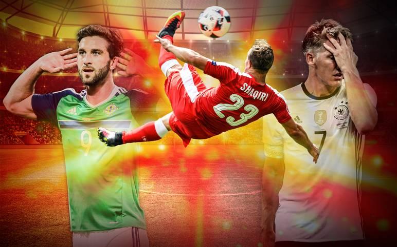 Ein früherer Bayern-Star sorgt für das Tor des Turniers. Der Modus und deutsche Hand-Sünder gehören zu den negativen Höhepunkten. SPORT1 zeigt die Tops und Flops der EM 2016