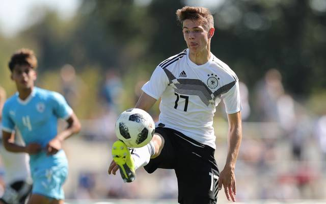 SINGEN, GERMANY - SEPTEMBER 09: Jan Thielmann of Germany in action during the Four Nations Tournament between Germany and Israel at Hohentwielstadion on September 9, 2018 in Singen, Germany. (Photo by Christian Kaspar-Bartke/Getty Images)