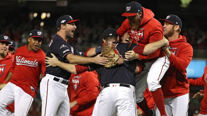 Die Washington Nationals wollen auch in den World Series gegen Houston jubeln