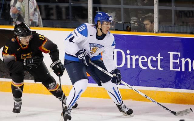 Niclas Lucenius (r.) spielte mit Finnland auch schon gegen Deutschland
