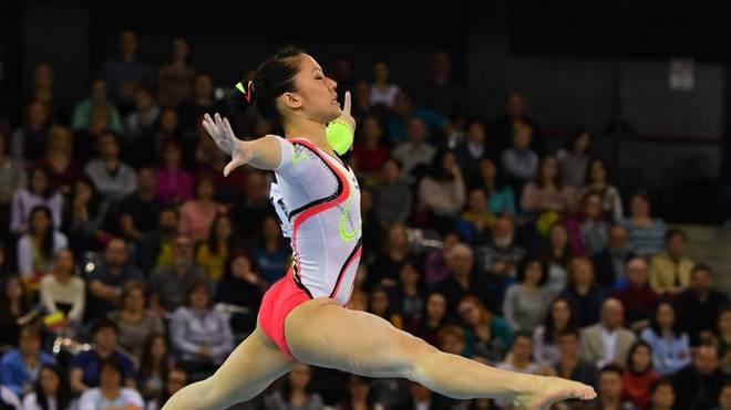 Kim Bui gewinnt beim Weltcup-Turnier Silber am Boden