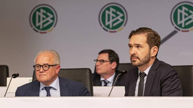Das Verhältnis zwischen DFB-Präsident Fritz Keller (l.) und Generalsekretär Friedrich Curtius gilt als schwierig