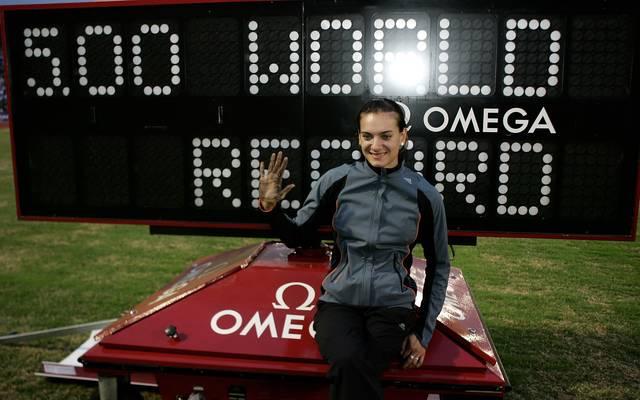 Jelena Issinbajewa hält noch heute den Weltrekord von 5,06 Metern