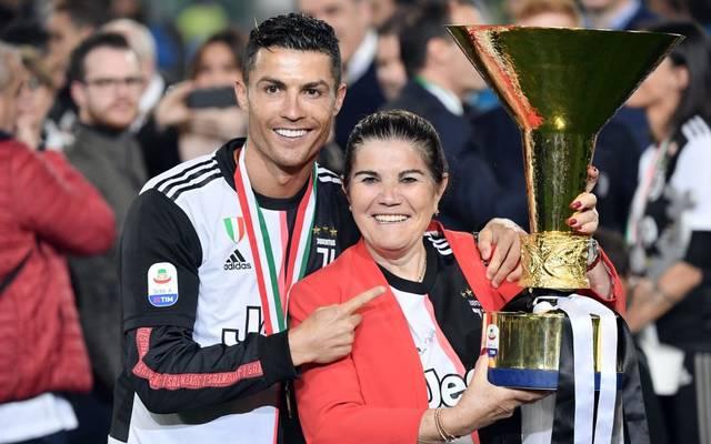 Cristiano Ronaldo feierte im Mai 2019 mit seiner Mutter den Gewinn der italienischen Meisterschaft