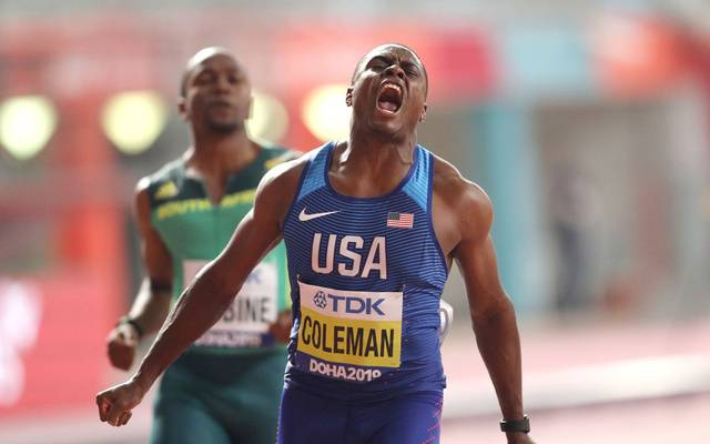 Christian Coleman war nicht zu schlagen und kürt sich zum ersten Weltmeister der Post-Bolt-Ära