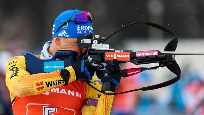 Erik Lesser bot beim Biathlon-Triumph der deutschen Männer-Staffel eine grandiose Leistung