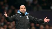 LONDON, ENGLAND - FEBRUARY 02: Pep Guardiola, Manager of Manchester City gestures during the Premier League match between Tottenham Hotspur and Manchester City at Tottenham Hotspur Stadium on February 02, 2020 in London, United Kingdom. (Photo by Catherine Ivill/Getty Images)